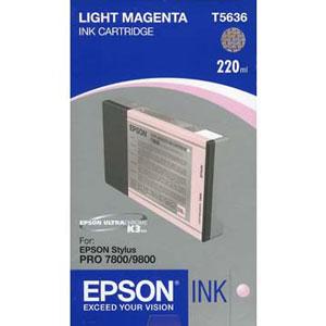 Epson Light Magenta Ink 220ml For 7800 9800 T603C00