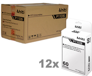 HiTi P110S Case of 4x6 Ribbon and Paper Media (12 Print packs) - 720 Total Prints 87.P3308.15X