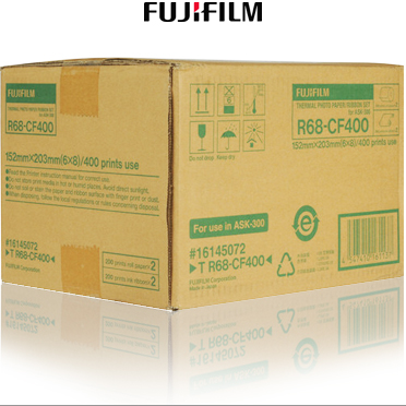 "Fujifilm ASK-300 T R68-CF400 6x8"" Media Kit - 400 Prints 16145072"