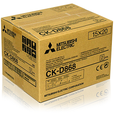 "Mitsubishi CK-D868 6x8"" Dye Sub Paper and Ribbon media - 430 prints"