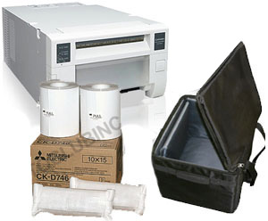 Mitsubishi CPD70DW Photo Printer w/Padded Carrying Case with 4x6 Media Box Bundle CPD70-Case-4x6