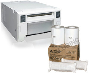 "Mitsubishi CPD70DW Printer and a 4x6"" Media Box (800 prints) Bundle CPD70-4x6"