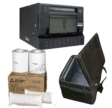 "Mitsubishi CPD90DW Printer, Printer Carrying Case and 4x6"" Media Box Bundle CPD90-Case-4x6"