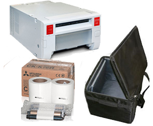 Mitsubishi CPK60DW-S Photo Printer w/Padded Carrying Case and 4x6 Media Box Bundle CPK60DWS-Case-4x6