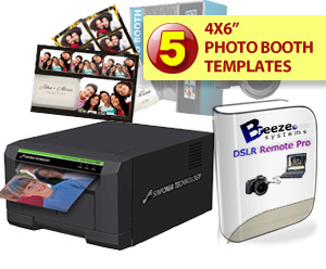 Sinfonia Color Stream CS2 Digital Photo Printer, Breeze Systems Photo Booth  Software and Five Template Bundle