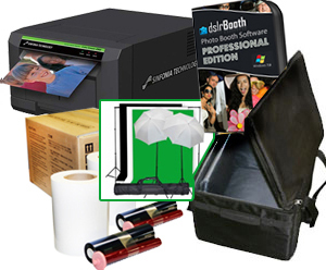 "Sinfonia Color Stream CS2 Dye Sub Photo Printer with a dslrBooth Pro Photobooth Software, 4x6"" Media, Printer Carrying Case and 10 Templates Bundle CS2-dslrBooth-4x6-case"
