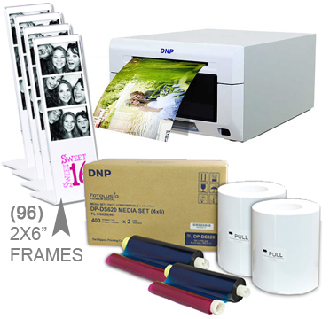 "DNP DS620A Dye Sub Photo Printer with 4x6"" Printer Media (800 prints) and (96)-2x6"" Frame pieces Bundle DS620A-4x6-2X6Frames"