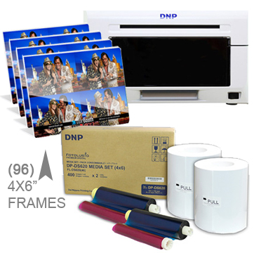"DNP DS620A Dye Sub Photo Printer with 4x6"" Printer Media (800 prints) and (96)-4x6"" Frame pieces Bundle DS620A-4x6Frames"