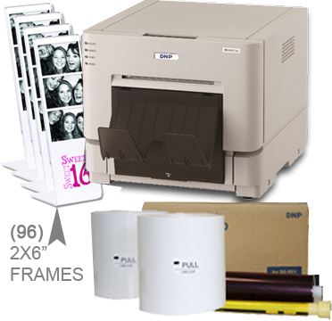 "DNP RX1HS Dye Sub Photo Printer with RX1HS 4x6"" Printer Media (1400 prints) and (96)-2x6"" Frame pieces Bundle DSRX1HS-4x6-2X6Frames"