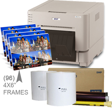 "DNP RX1HS Dye Sub Photo Printer with RX1HS 4x6"" Printer Media (1400 prints) and (96)-4x6"" Frame pieces Bundle DSRX1HS-4x6-4X6Frames"