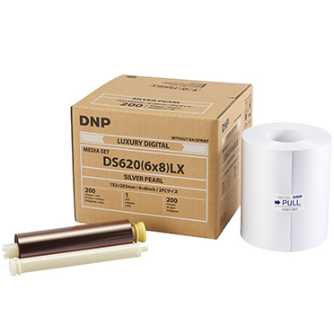 DNP DS620A 6x8 Silver Pearl Luxury Print Media (1 Roll 200 total prints) DS6206x8LXSP