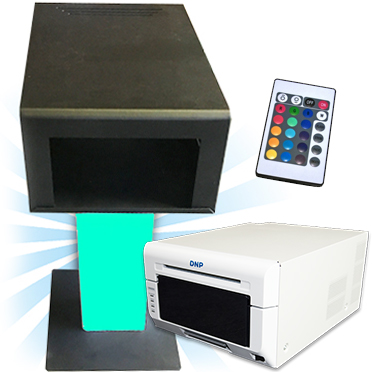 DNP DS620A Dye Sub Photo Printer with a Black Printer Stand and Cover with LED Remote Bundle DS620ASET-STANDCVR-BK
