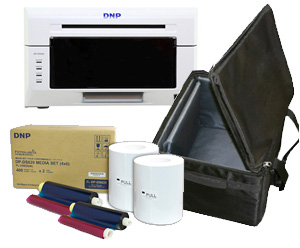 DNP DS620A Dye Sub Photo Printer with 4x6' Printer Media (800 prints) and Printer Carrying Case Bundle DS620A-4x6-CASE