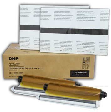 "DNP 8x10"" Print Media Sheets for DS80DX Printer - 130/260 prints DS80D8X10C"