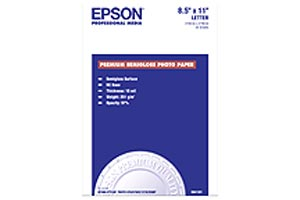 Epson Premium Semigloss Photo8.5in x 11in (20 sh) S041331