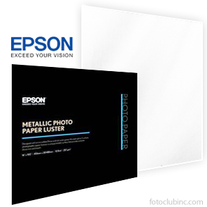 "Epson Metallic Photo Paper LUSTER 13""x 19""- 25 Sheets - 10.5 mil - 257 gsm S045597"