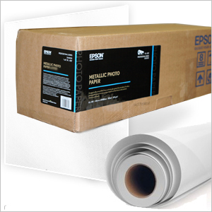 "Epson Metallic Photo Paper GLOSSY 16""in x 100'ft Roll S045585"