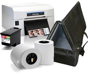 PRIMERA Impressa IP60 Digital Photo Printer with 6' LUSTER 2 Roll Photo Paper 2-Rolls, Full INK and Printer Carrying Case Bundle 81001