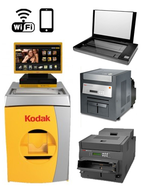 "KODAK Picture 24"" Kiosk G4XL II Digital Station - 120V with a G4XLII Order Station, (1)-Print Scanner, (1)-Kodak 8810 Printer, (1)-Kodak 6850 Printer, WiFi 137 2366 ( 1372366 )"