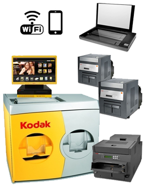 "KODAK Picture 36"" Kiosk G4XL II Print Station - 120V with a G4XLII Order Station, (1)-Print Scanner, (1)-Kodak 8810 Printer, (2)-Kodak 6850 Printer, WiFi 176 3986 ( 1763986 )"