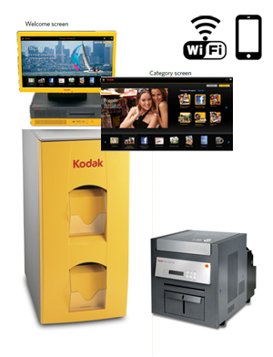 "KODAK Picture 17"" Kiosk G4XL II Digital Station - 120V with a G4XLII Order Station, (1)-Kodak 6850 Printer, WiFi 101 6278 ( 1016278 )"