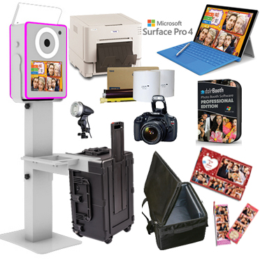 Lumia DNP RX1HS Printer dslrBooth Software Full Photo Booth System - WHITE LumiaPB-RX1HS-WH