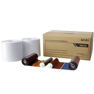 "HiTi M610 6""x8"" Paper & Ink Ribbons - 750 total prints 87.PBL53.10XT"