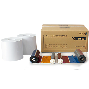 "HiTi M610 4""x6"" Paper & Ink Ribbons - 1500 total prints 87.PBX53.10XT"