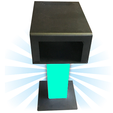 Printer Stand with Printer Cover, LED Lights and Remote - BLACK PS-LED-RM-SMLB1
