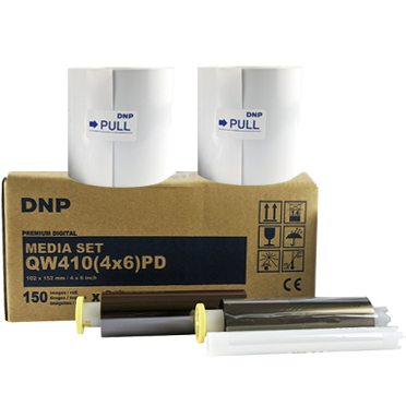 "DNP DP-QW410 4x6"" Printer Media – 2 Rolls (300 total prints) QW4104x6"