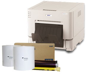"DNP RX1HS Dye Sub Photo Printer with RX1HS 4x6"" Printer Media (1400 prints) Bundle DSRX1HS-4x6"