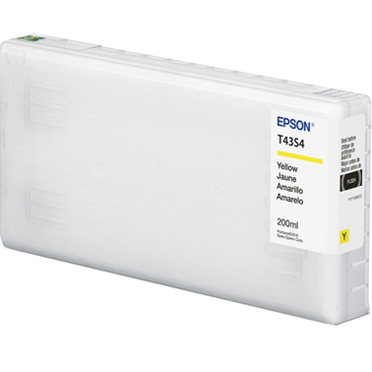 Epson SureLab D870 UltraChrome D6r-S YELLOW Ink Cartridge - 200 ml T43S420