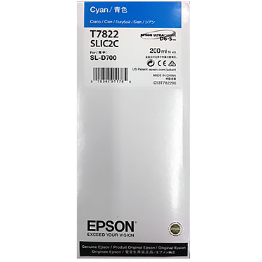 Epson SureLab D700 CYAN UltraChrome D6-S Ink Cartridge – 200 ml T782200
