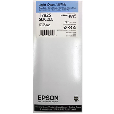 Epson SureLab D700 LIGHT CYAN UltraChrome D6-S Ink Cartridge – 200 ml T782500