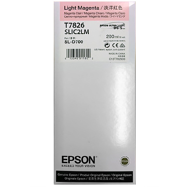 Epson SureLab D700 LIGHT MAGENTA UltraChrome D6-S Ink Cartridge – 200 ml T782600